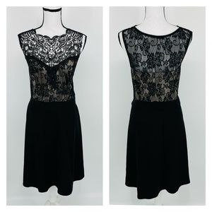 Love Squared Plus Sz Lace Textured Party Dress I46